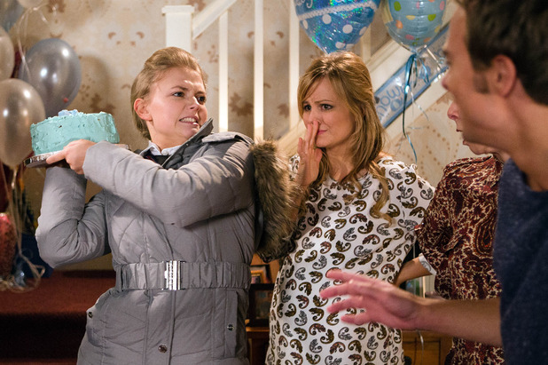 Corrie, Bethany flips at Sarah's baby shower, Fri 4 Mar