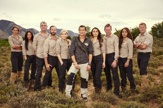 Bear Grylls: Mission Survive, series 2, full cast shot, Thu 3 Mar