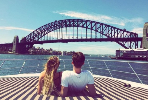Charlotte Crosby and Gary Beadle, Sydney 2 March