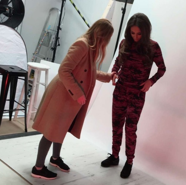 Ex On The Beach starlet Megan McKenna shares behind the scenes pictures from Miss Pap shoot, London 3rd March 2016