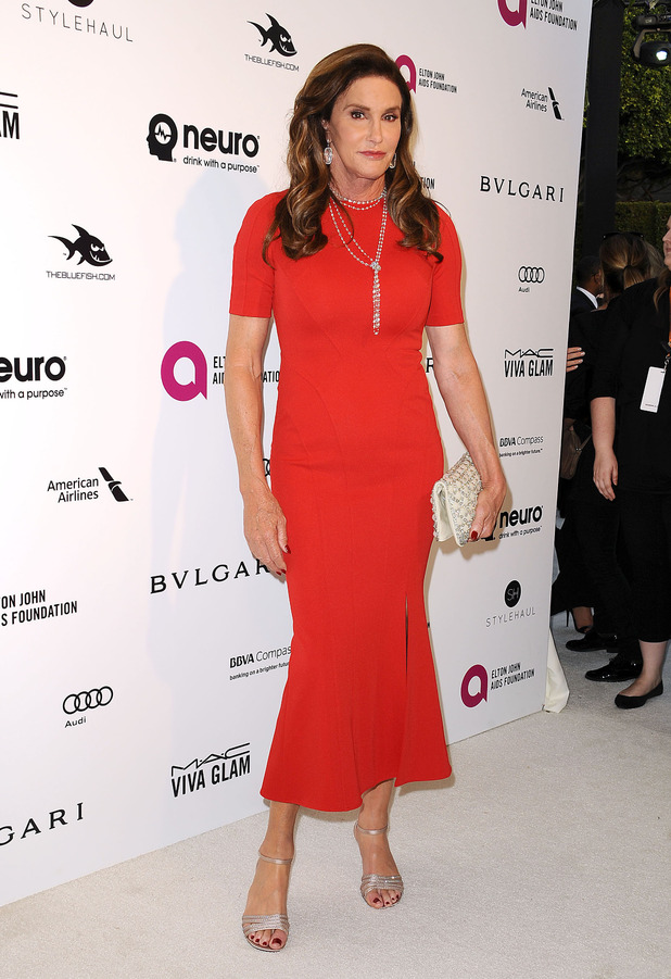 Caitlyn Jenner attends the Oscars and Vanity Fair after party in Beverley Hills, America 28th February 2016