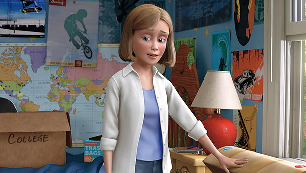 TOY STORY 3, from left: Andy (voice: John Morris), Andy's Mom (voice: Laurie Metcalf) 4 Feb 2010
