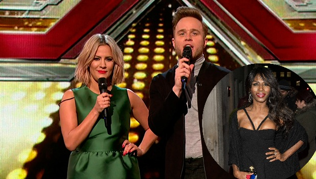 Caroline Flack and Olly Murs and Sinitta.