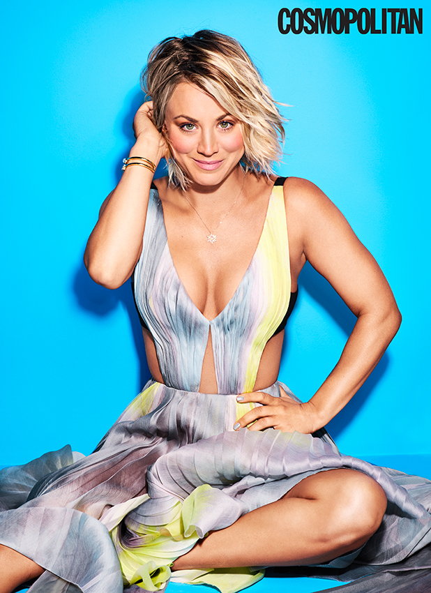 Kaley Cuoco covers the April issue of Cosmopolitan (on newsstands March 8)