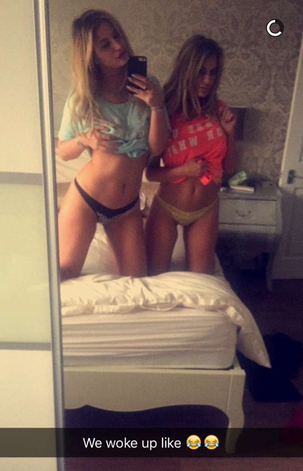 Ferne McCann and Danielle Armstrong in Snapchat, 1 March 2016