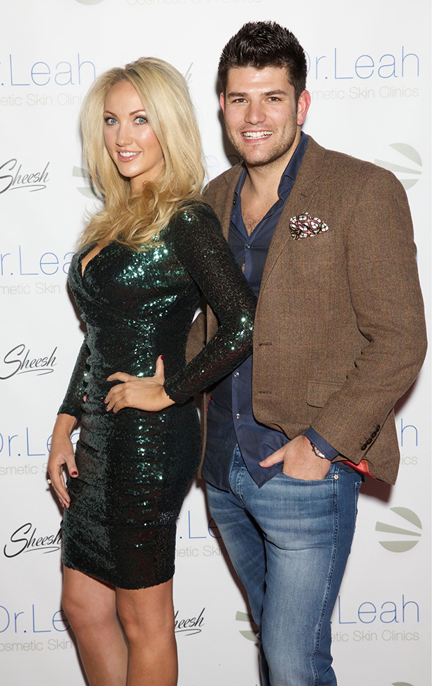 Dr. Leah Cosmetic Skin Clinic event, Chigwell, Britain - 29 Feb 2016 Leah Totton & Mark Wright