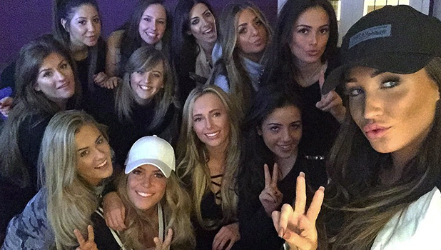 Megan McKenna watches TOWIE with Chloe Meadows and Courtney Green 28 Feb 2016