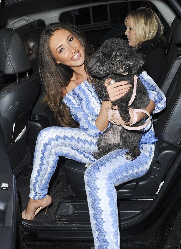 Megan McKenna Seen Leaving Tangle Teeze Product Launch 2 March 2016
