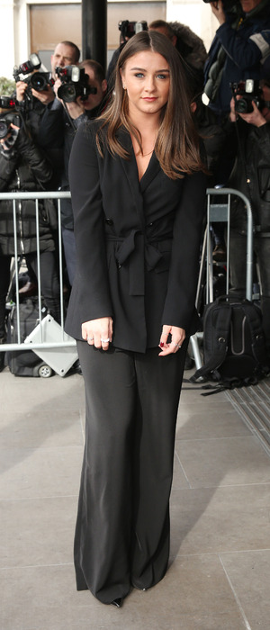 Brooke Vincent, Coronation Street, in all-black at the TRIC Awards in London, 8th March 2016