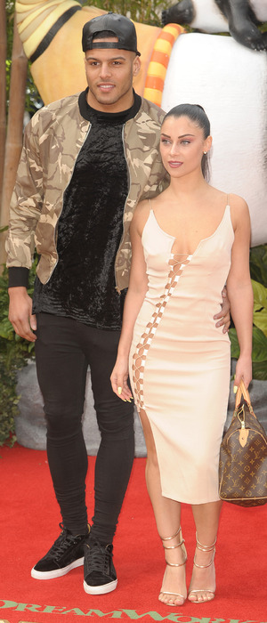 Cally Jane Beech and boyfriend Luis Morrison at the Kung Fu Panda 3 premiere in London, 6th March 2016