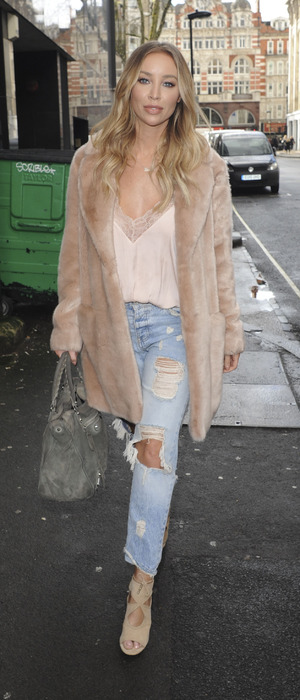 Former The Only Way Is Essex star Lauren Pope spotted out and about in London, 9th March 2016