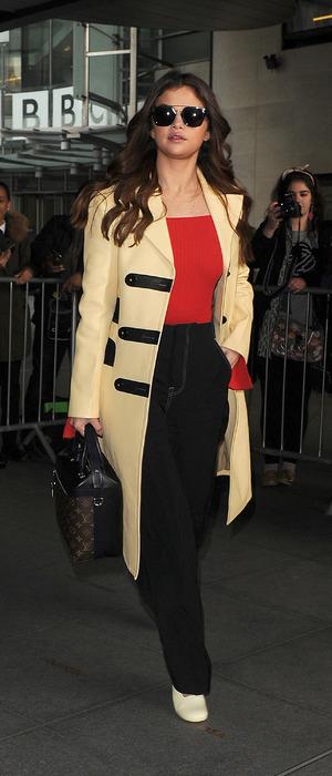 Selena Gomez seen outside BBC Radio 1 in London, 10th March 2016