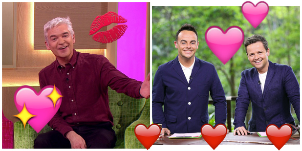 Ant and Dec and Philip Schofield are amongst the top celebs women fantasise about in bed, March 2016