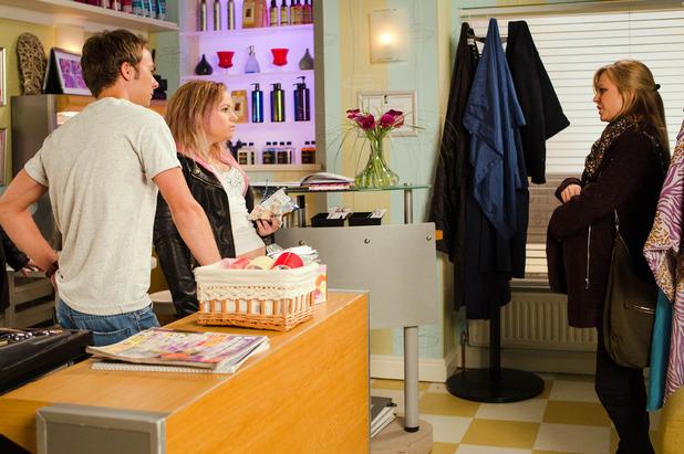 Corrie, Sarah shocked to see Gemma, Fri 11 Mar