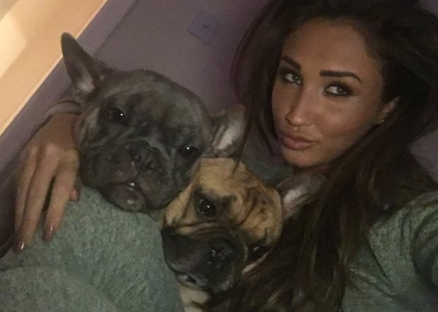 Megan Mckenna 'babysits' Pete Wicks' dogs. 10 March 2016.