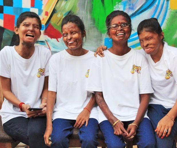 Acid attack survivors Ritu, Neetu, Geeta and Rupa