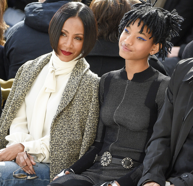 Jada Pinkett Smith and Willow Smith attend the Chanel show as part of the Paris Fashion Week Womenswear Fall/Winter 2016/2017 on March 8, 2016 in Paris, France