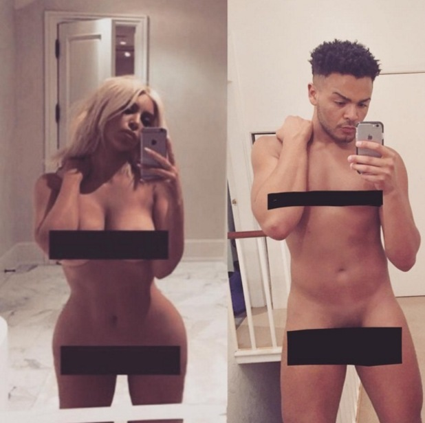 Nathan Henry copies Kim Kardashian's naked selfie 7 March
