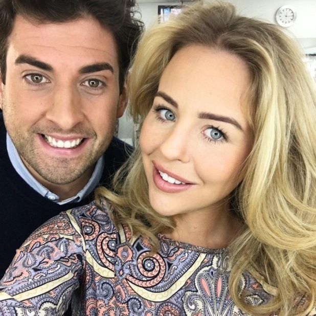 Lydia Bright and James Argent before their Loose Women appearance, 10th March 2016