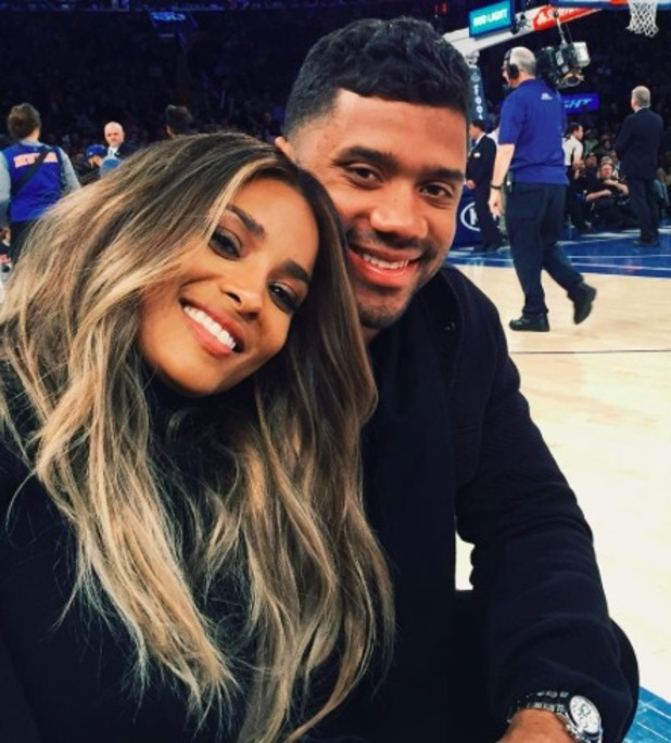 Ciara and Russell Wilson, 2016.