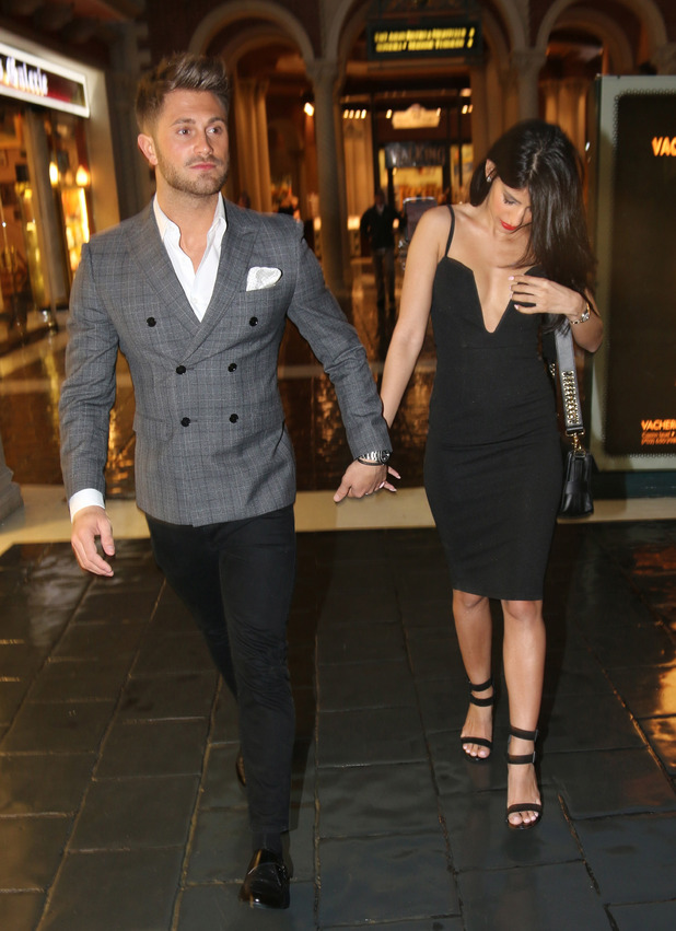 Jasmin Walia and her boyfriend Ross Worswick visit casino in Las Vegas while on holiday, 7th March 2016