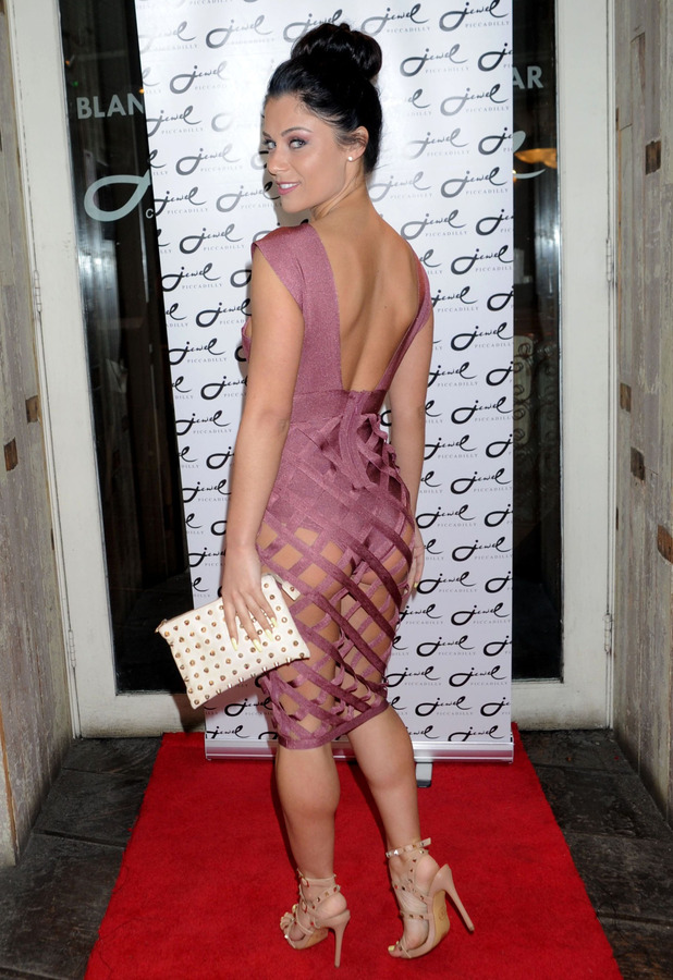 Love Island's Cally Jane Beech bares her bottom in barely there dress at Jake Quickenden's EP Launch party, London, 9th March 2016