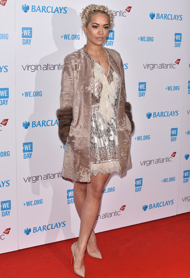 Rita Ora on the red carpet at the WE Day event in London, 9th March 2016