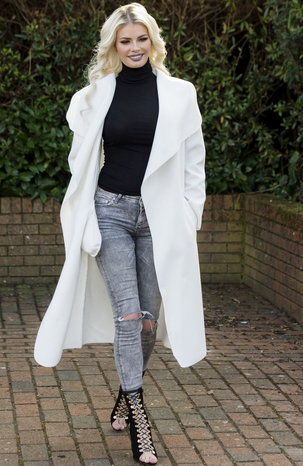 TOWIE's Chloe Sims spotted out and about in Essex, 6th March 2016