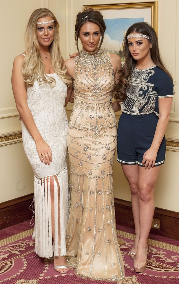 TOWIE Great Gatsby Party, London - Chloe Meadows, Megan McKenna and Courtney Green - 8 March 2016