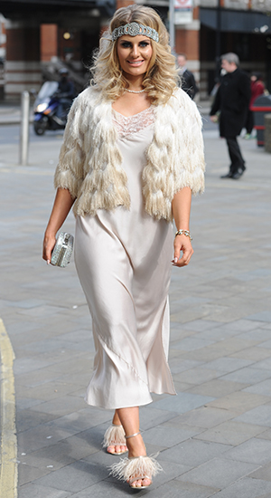 TOWIE cast arrive in costume for the filming of 'The Great Gatsby' in London Danielle Armstrong