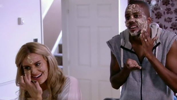 Danielle Armstrong and Vas J Morgan, The Only Way Is Essex, Shown on ITV Be Bird poo facials