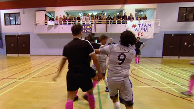 TOWIE: Pete and Jake clash during football match 9 March 2016