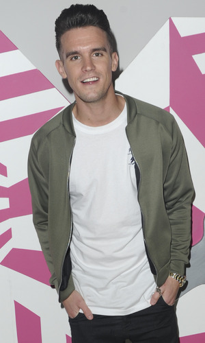 Gordie Shore's Gary Beadle seen at MTV Headquarters to view the latest episode and stream live on periscope. 15 December 2015.