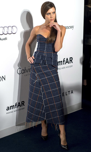 Victoria Beckham attends The Foundation for AIDS Research's second amfAR Hong Kong event, 19 March 2016.