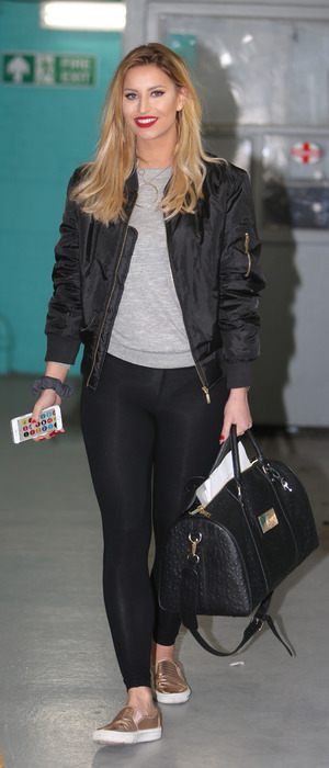 Former TOWIE star Ferne McCann spotted outside ITV Studios in London, 15th March 2016