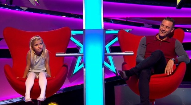 Elliott Wright on ITV's Big Star's Little Star with his daughter Olivia. 16 March 2016.