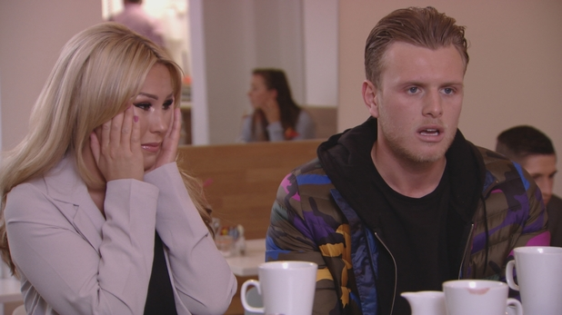 TOWIE: Kate Wright gets upset. 16 March 2016.