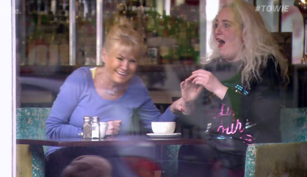 Carol Wright and Debbie Douglas on TOWIE. 13 March 2016.