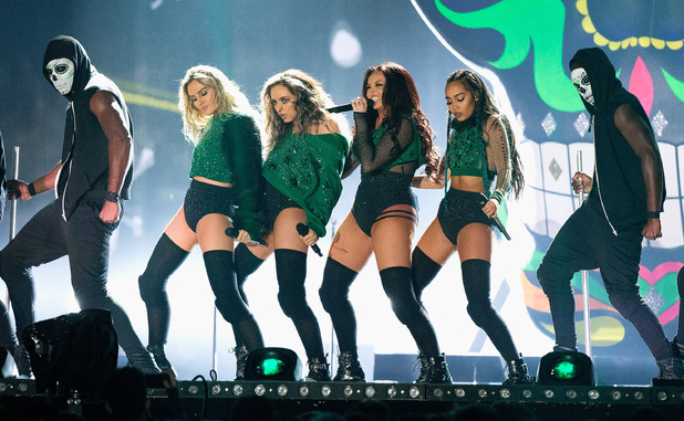 Little Mix at the Brit Awards Show at the 02 Arena in London - 24 February 2016.