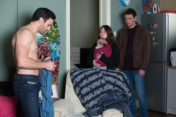 EastEnders, Stacey and Martin catch Kush, Tue 22 Mar
