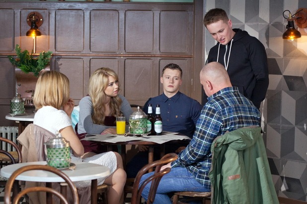 Hollyoaks, Jason angry at the family lunch, Tue 22 Mar