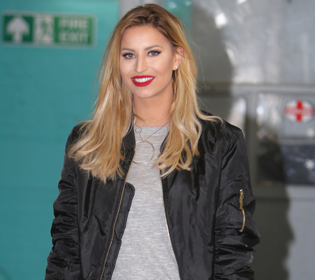 Former TOWIE star Ferne McCann spotted outside ITV Studios in London, 15th March 2016