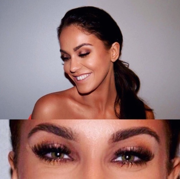 Vicky Pattison's make-up artist Lo Dias takes to Instagram to share a beauty breakdown of Vicky's eye make-up look, 14th Mach 2016