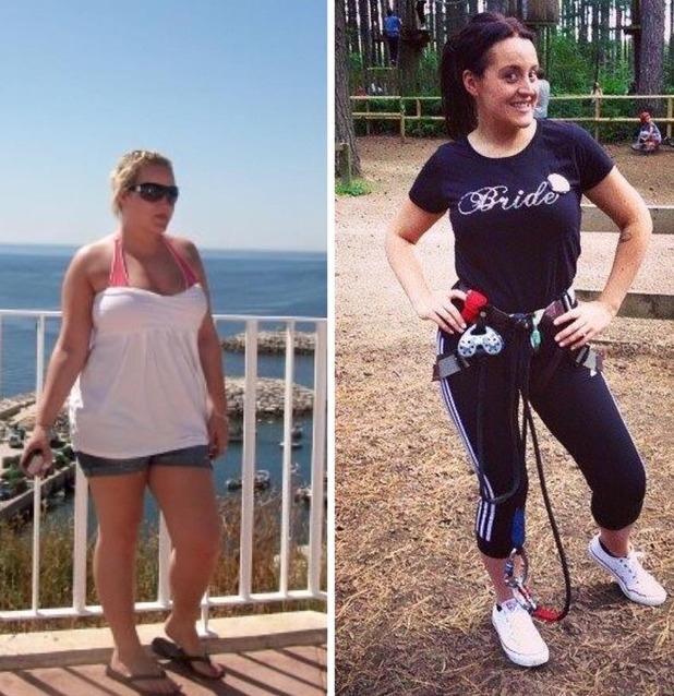 Amy Cunningham Slimming World London marathon slimmer before and after photos