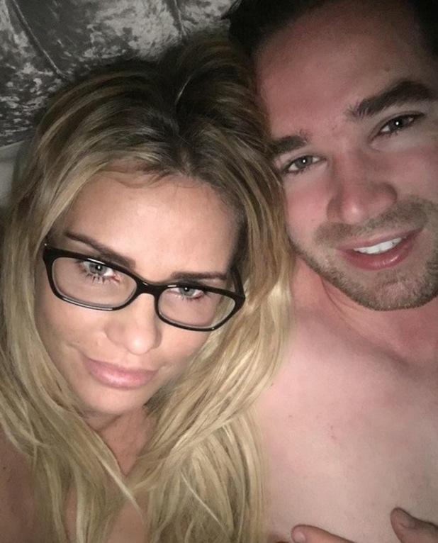 Katie Price and Kieran Hayler in bedtime selfie. 13 March 2016.