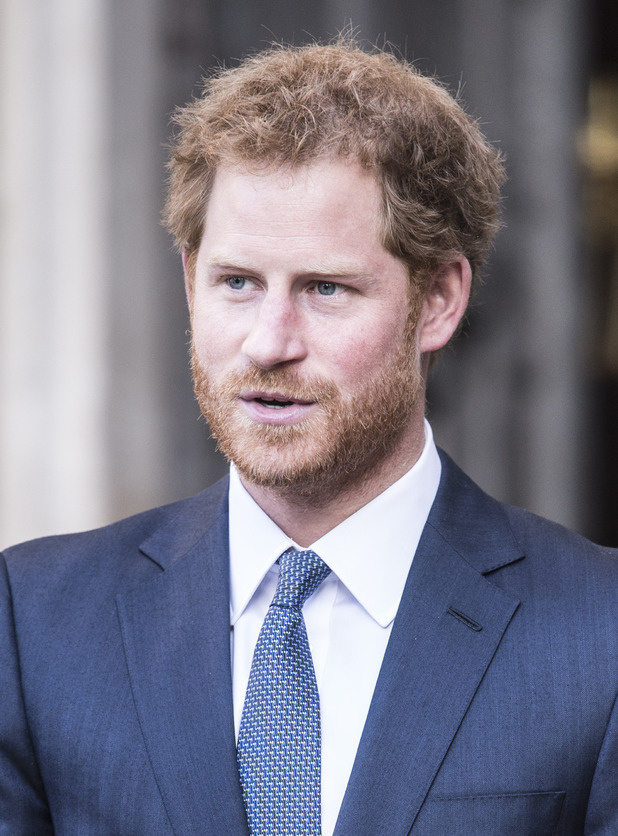 Prince Harry attends a service at Westminster Abbey to celebrate Commonwealth day.