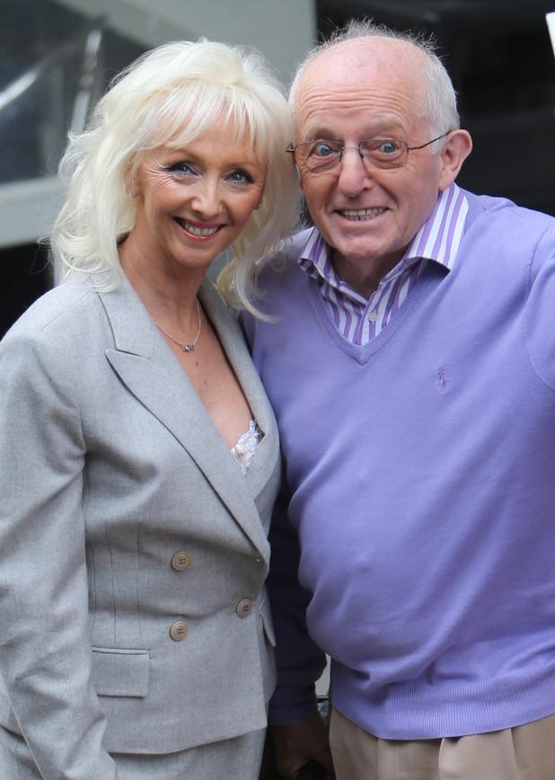 Paul Daniels and Debbie McGee outside ITV Studios - 27 August 2015.
