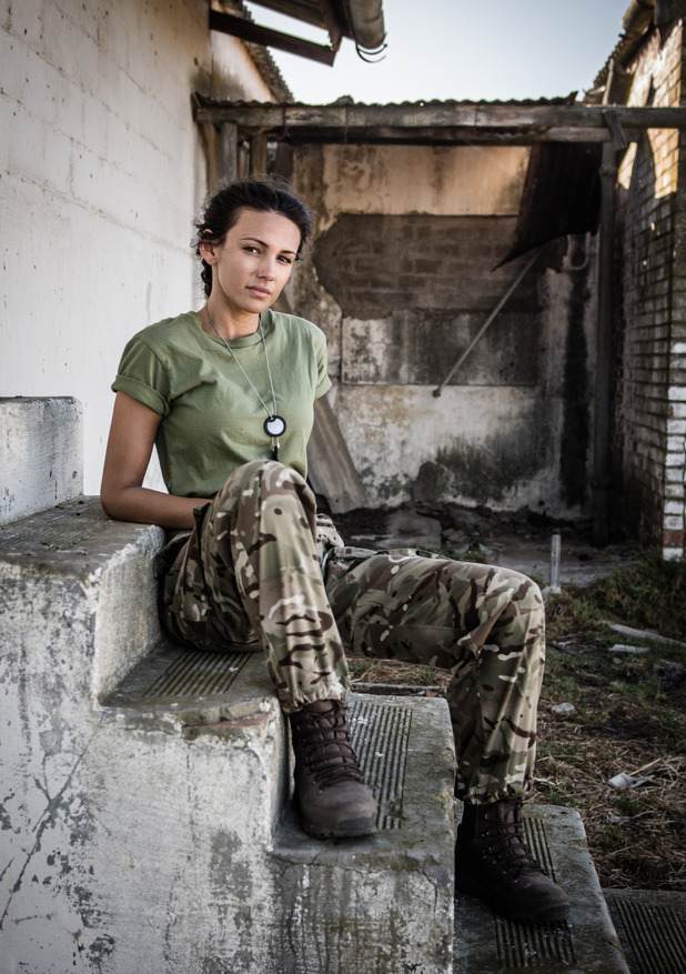 Michelle Keegan in BBC One drama Our Girl as Georgie Lane. 18 March 2016.