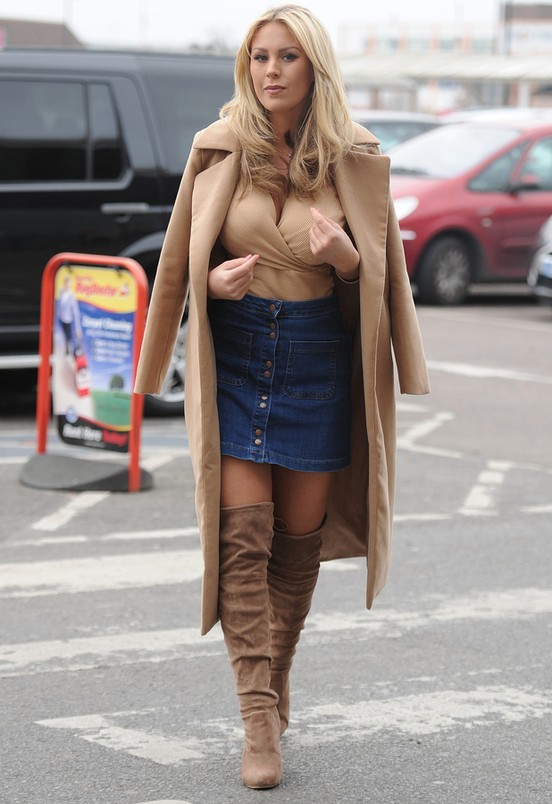 TOWIE star Kate Wright out and about in Essex filming the next series, 15th March 2015
