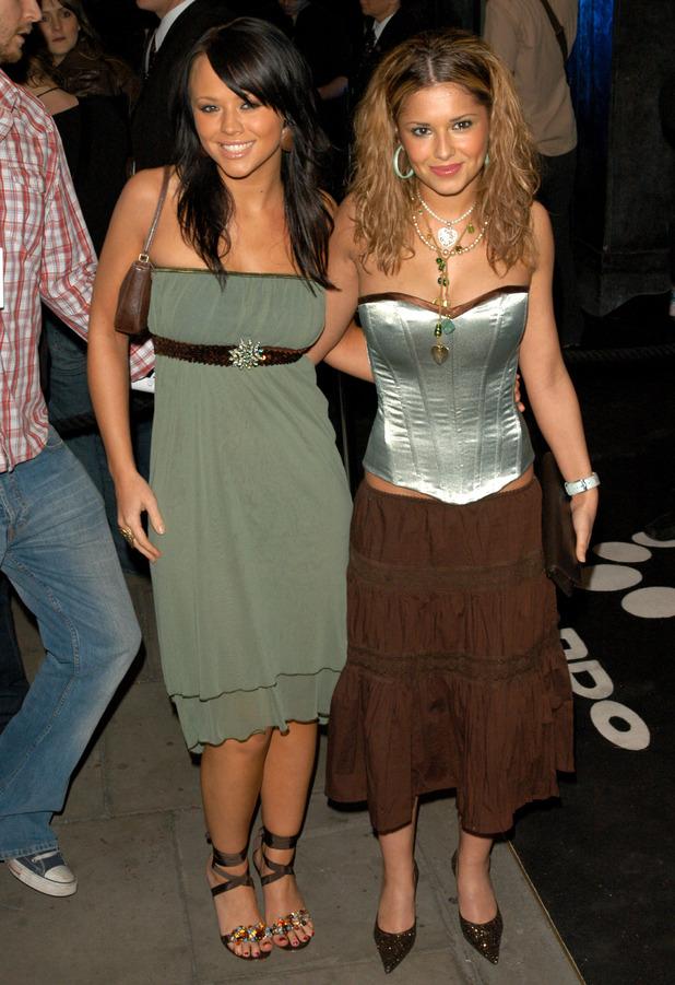 Former Girls Aloud star Cheryl Fernandez-Versini attends the Gizmondo launch party in London, March 2005